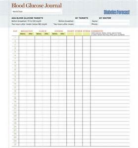 Diabetes Log Template by 5 Plus Free Printable Blood Sugar Log Templates