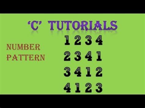 number pattern youtube c programming tutorial 28 3 number pattern youtube