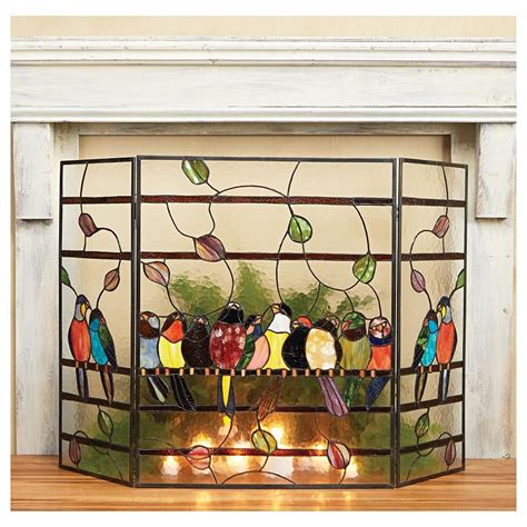 tempered glass fireplace screen finest stained glass