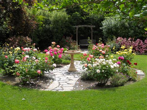 Backyard Rose Garden My Outdoors Pinterest Back Yard Landscaping With Garden