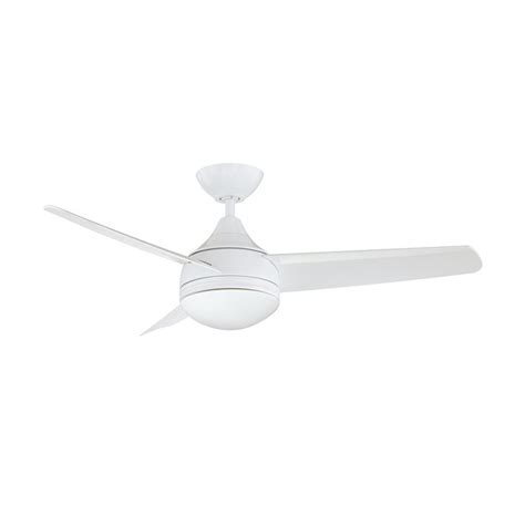 white 3 blade ceiling fan shop kendal lighting moderno 42 in white downrod mount