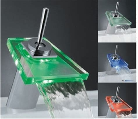 Best Sink Faucet by Best Selling Single Handle Mount Led Glass Waterfall