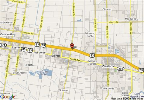 map of donna texas map of 8 motels donna donna