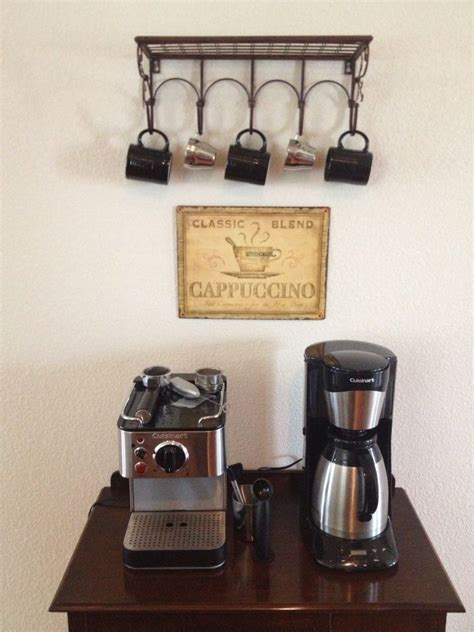 Shelf Of K Cups by Coffee Bar We Added Colored Espresso Cups To The Top Of The Shelf Saw It On