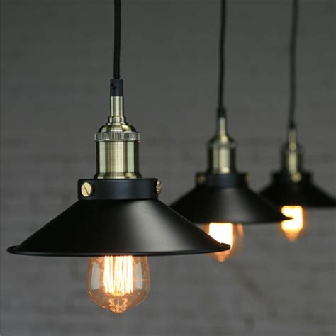 Edison Loft Style Vintage Industrial Retro Pendant L Bar Pendant Light Fixtures