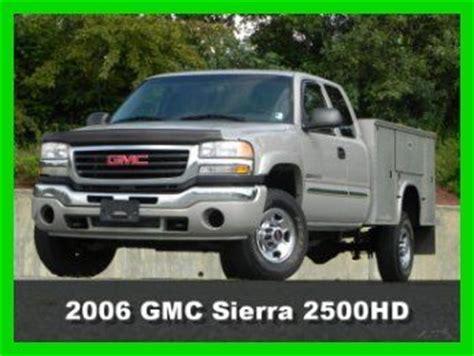 how petrol cars work 2006 gmc sierra 2500hd engine control sell used 2006 gmc sierra 2500hd sle extended cab utility truck 4x4 4wd 6 0l gas vortec in south