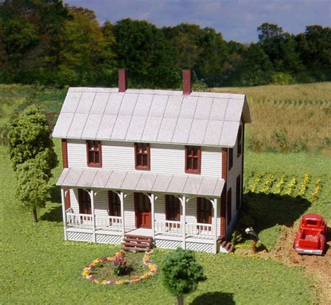 two story farmhouse 640 amb two story farmhouse w porch laserkit n scale