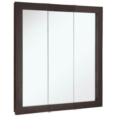 Design House 541342 Ventura Espresso Tri View Medicine Tri Mirror Medicine Cabinet