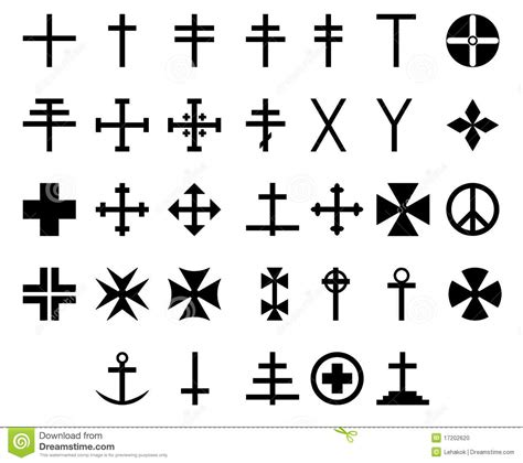 33 cross symbols stock photo image 17202620