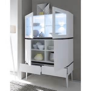 vaisselier lumineux moderne 4 portes 2 tiroirs