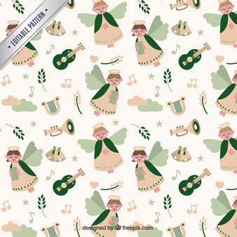 christmas patterns year 1 angels pattern vector free download