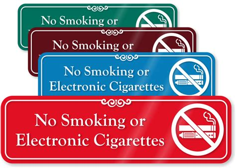 no smoking sign without cigarette no smoking or electronic cigarettes sign with graphic