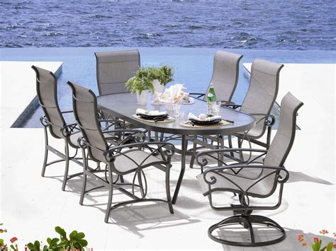 winston palazzo sling cast aluminum dining set wsplscl1