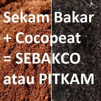 Jual Cocopeat Murni sebakco pitkam sekam bakar cocopeat 1 kg