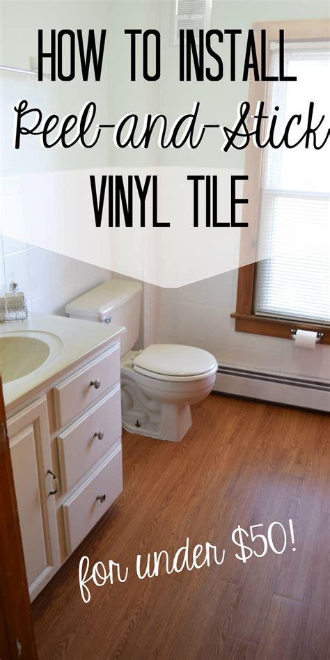 peel and stick vinyl install peel and stick vinyl floor planks in the bathroom