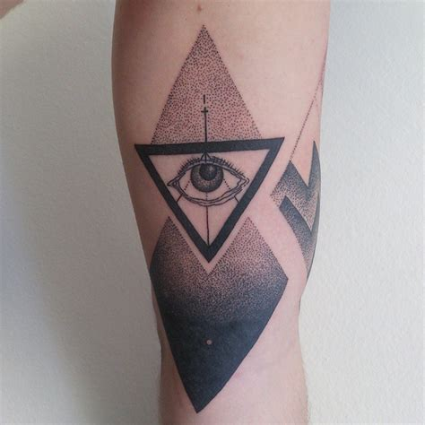 triangle eye tattoo 65 best triangle designs meanings sacred