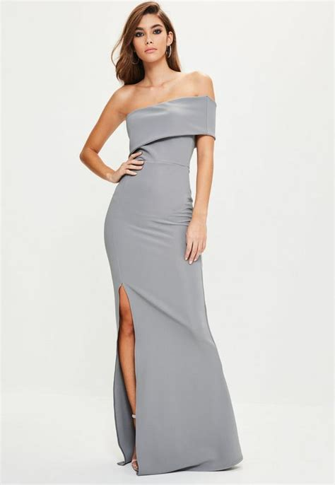 One Shoulder Maxi Dress grey one shoulder maxi dress missguided