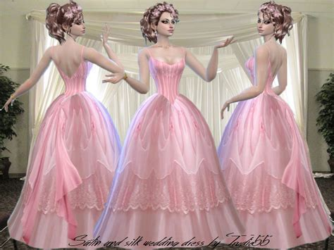 S4 Saten Silk trudieopp s pink satin and silk wedding dress need mesh