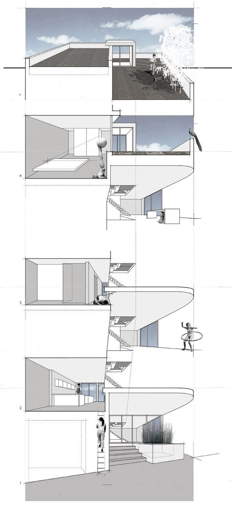 Split Level House Section by Gallery Of Split Level House Qb Design 22