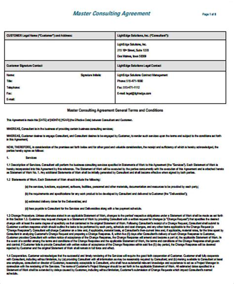 Consulting Agreement Template Free Simple Consulting Template