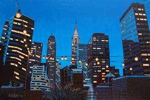 Chrysler Building Painting Painting Process The Chrysler Building At Magic Hour Borbay