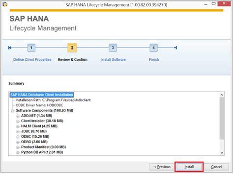 sap tutorial dvd hana tutorials how to install hana client on windows