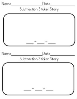maths sticker subtraction subtractions sticker story common www