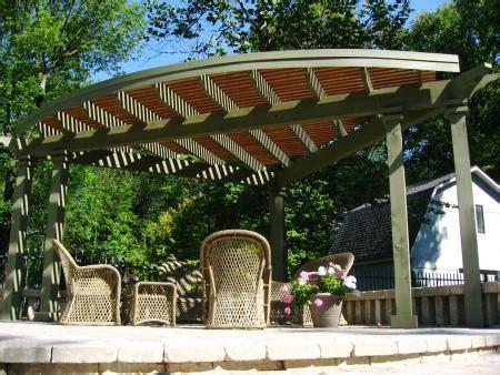 corner pergola with sun shade porch idea pinterest