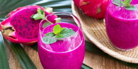 resep  membuat jus buah naga merah  enak segar