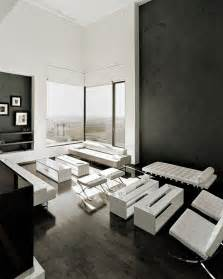 living white room: black and white living room interior design ideas