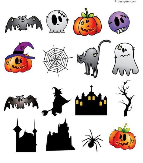 4 designer a set of halloween characters vector materials