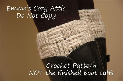 crochet pattern boot socks crochet pattern basketweave boot cuffs boot cuff leg