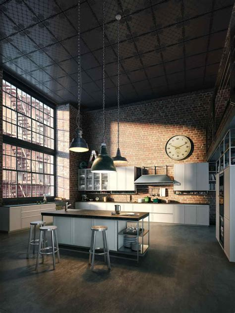 apartment awesome industrial loft apartment ideas industrial warehouse loft apartment kitchen home design