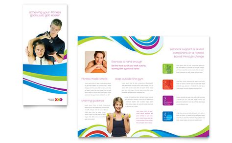 personal trainer brochure template word publisher