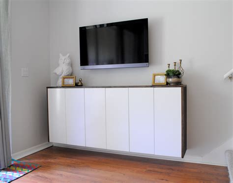 diy media cabinet hometalk diy floating credenza quot fauxdenza quot as custom