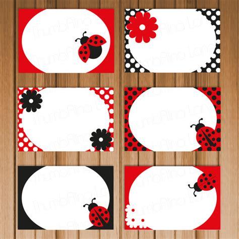 ladybug buffet ladybug printable folding buffet cards instant
