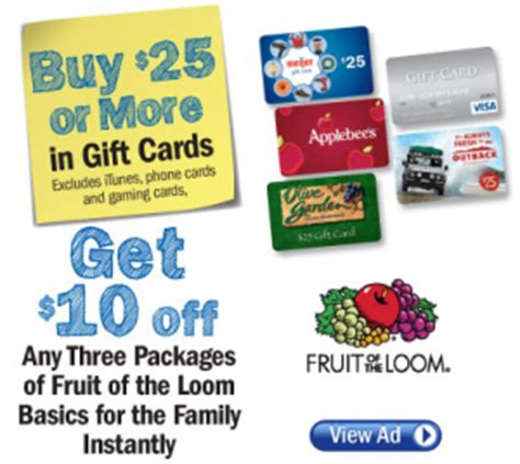 meijer printable gift cards meijer fruit of the loom gift card promotion ends this
