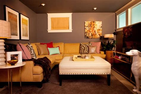 cozy brown leather sofa for yellow living room design 14 animal inspired decor ideas for your living room