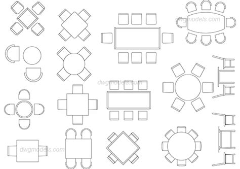 Construction Plan Symbols by Dining Tables Dwg Free Cad Blocks Download