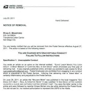 Resignation Letter Usps Mailman Fired After Talking To Press San Diego Citybeat