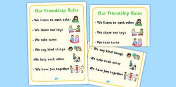 our friendship rules poster relationships sen