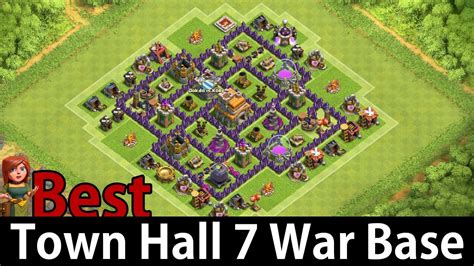 base for town hall 7 town hall level 7 war base www imgkid com the image