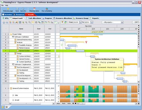 free plan software planningforce express planner freeware project planner