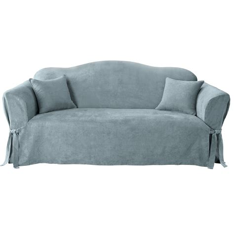 suede slipcovers for sofas sure fit soft suede sofa slipcover