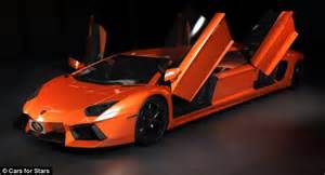 Lamborghini Aventador Limousine The Stretch Supercar Complete With Big Screen Tvs And A