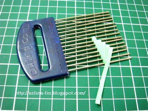 quilling tutorial using comb azlina abdul quilling comb