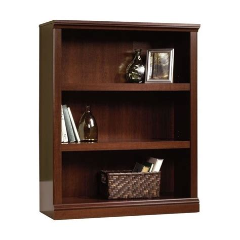 Sauder Cherry Bookcase Sauder 3 Shelf Select Cherry Bookcase Ebay