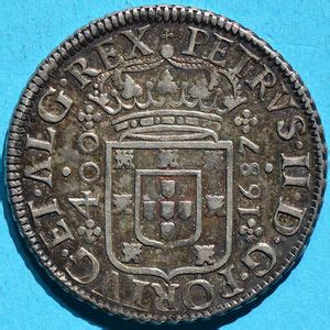 Portugal 1687 400 reis - CoinFactsWiki K 1687