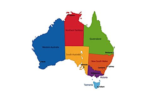 map of ausralia outdoor education australia where outdoor educators hang