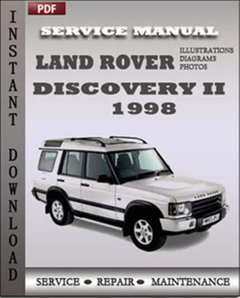 car repair manuals online pdf 1998 land rover discovery parking system land rover discovery 2 1998 service repair servicerepairmanualdownload com